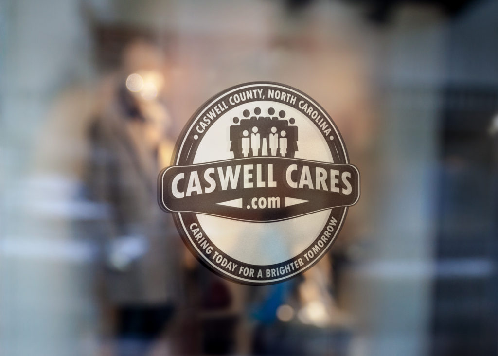 Caswell Cares Window Sticker