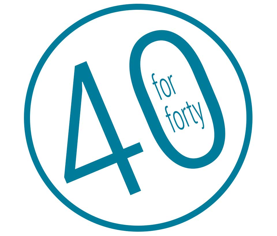 40 for forty campaign